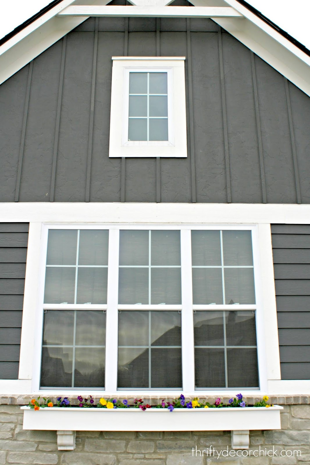Board and batten and siding exterior