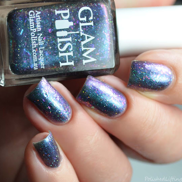 blue purple multichrome nail polish