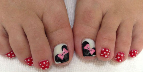 Lindisima Blog Uñas De Pies Decoradas Con Minnie Y Micky Mouse
