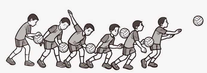 Teknik melakukan servis bawah permainan bola voli