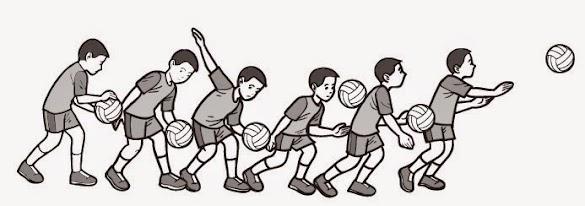 Teknik Cara Servis Bawah dan Servis Atas Pada Permainan Bola Voli