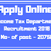 Apply Online For Income Tax Department Recruitment 2018 | No of Post 20750