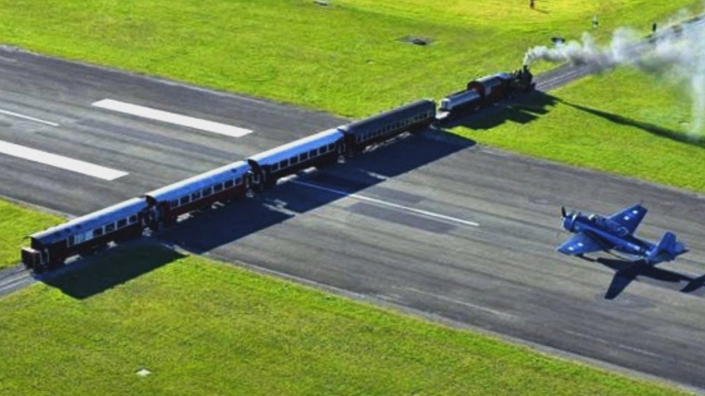 Gisborne Airport, New Zealand - One of the Few Airports in the World that has a Railway Line Crosses the Main Runway