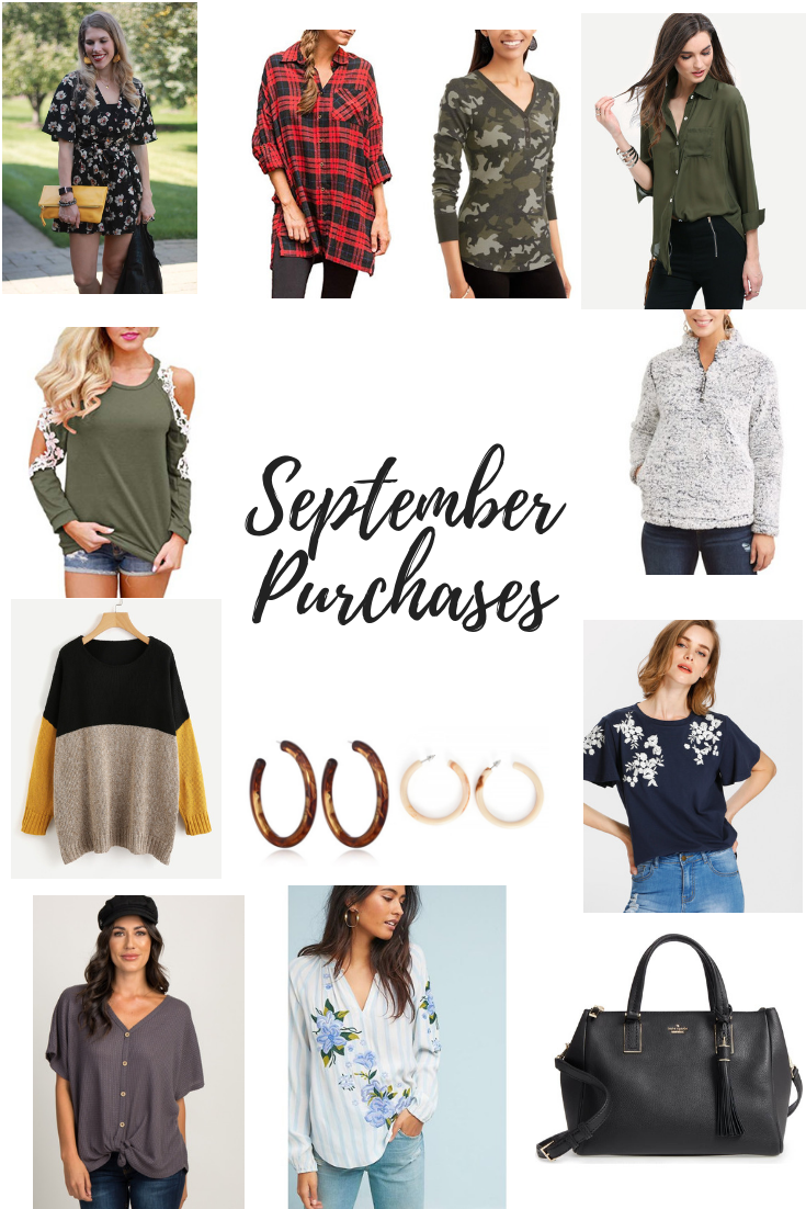 september clothing purchases