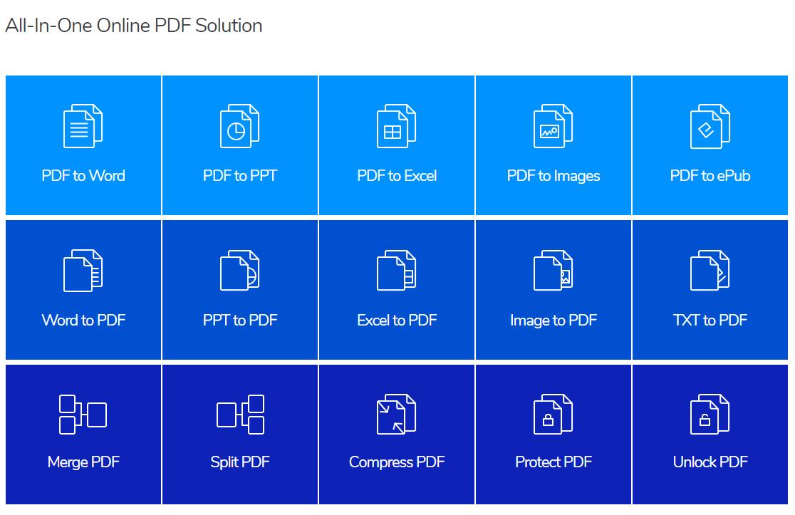 تحويل ملفات PDF إلى Word ، JPG ، Excel ، وتنسيق PPT للاستخدام المجاني Hipdf
