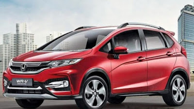 2017 Honda WR-V Crossover in red color