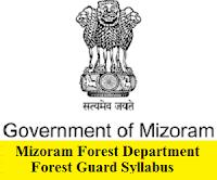 Mizoram Forest Department Forest Guard Syllabus