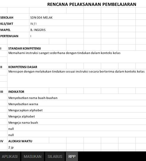 Aplikasi Pembuat RPP dan Silabus SD, SMP, SMA dan SMK Tahun Pelajaran 2017/2018
