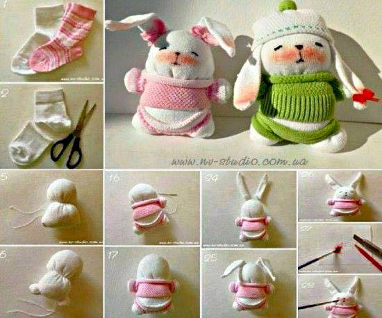 Creative ideas of waste socks crazzy craft for Creative ideas out of waste
