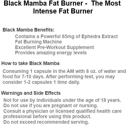 Black Mamba Fat Burner The Most Intense Fat Burner