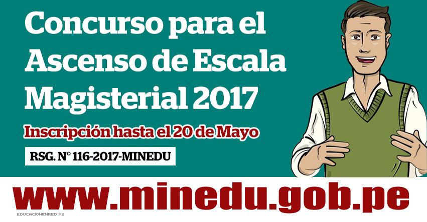 Minedu hasta el 20 de mayo inscripci n para el concurso for Concurso docentes 2017