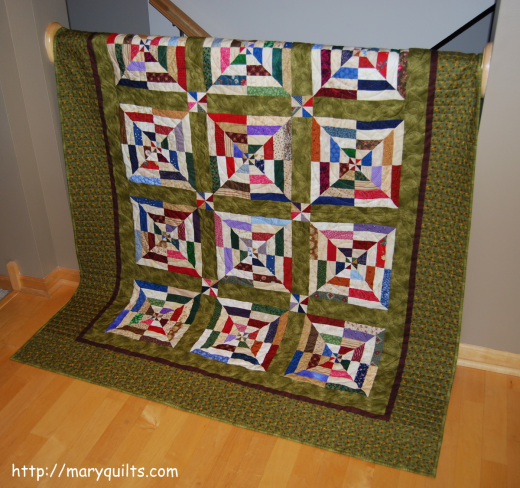Spiderweb Quilt Free Pattern designed by Mary Johnson of MaryQuilts