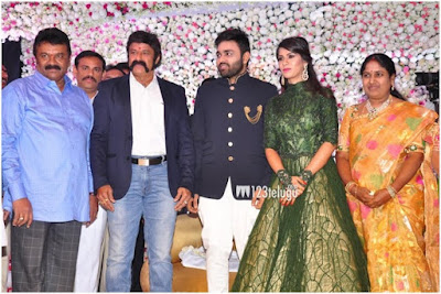 Balakrishna with bride and groom