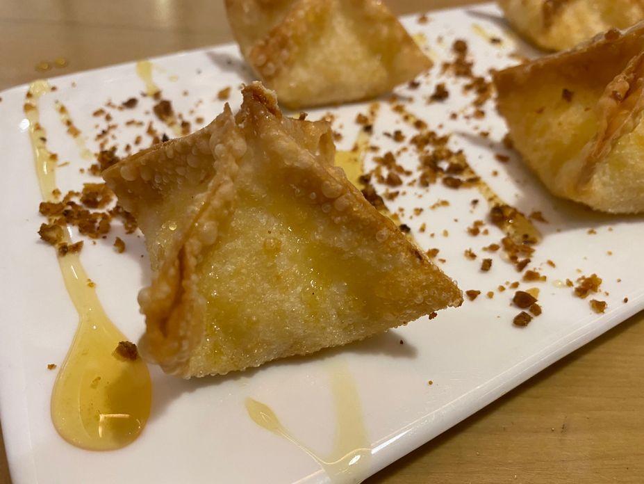 Fried truffle cheese wontons at Nono's Comfort Kitchen