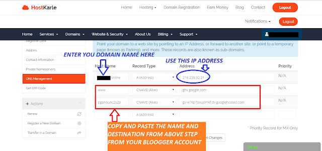 how to setup custom domain on blogger with godaddy.com,how to connect domain to blogger,blogger,how to add custom domain to your blogger with godaddy,how to connect hostkarle domain to blogger,how to add domain in blogger,free domain,how to add custom domain on blogger,how to buy cheap domain,how to get a custom domain for blogger free