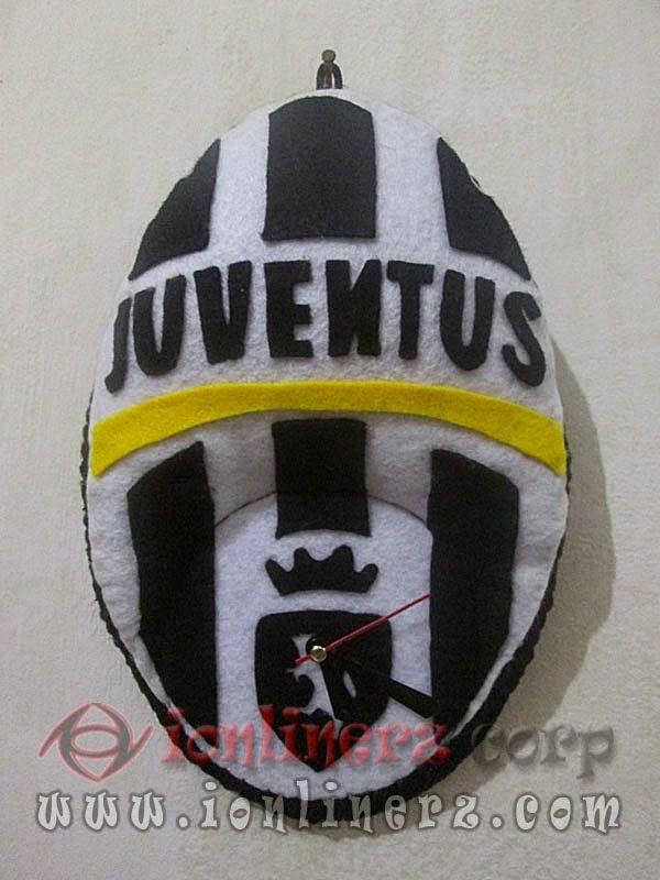 Jam Dinding Flanel Club Sepak Bola Juventus