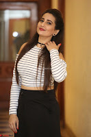Manjusha in sleevelss crop top and black skirt at Darshakudu pre release ~  Exclusive Celebrities Galleries 100.JPG