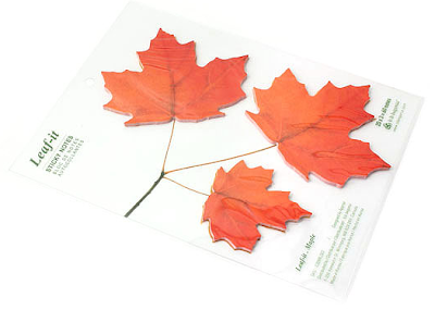 sticky notes shaped like leaves