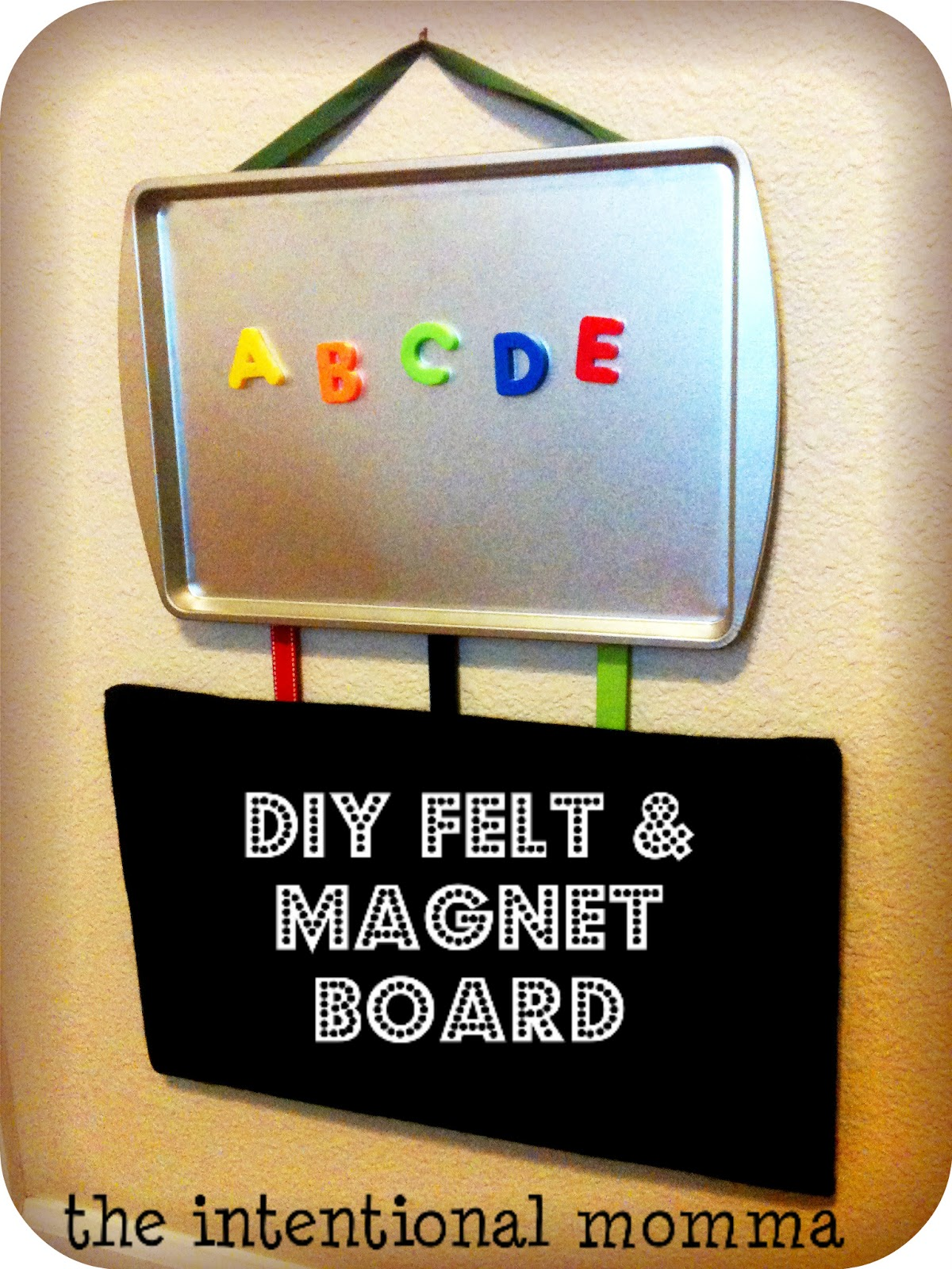 diy felt and magnet board the intentional momma