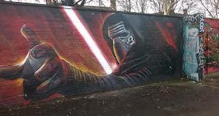 Kylo Ren Mural von Gnasher aus England   Das Bild des Tages