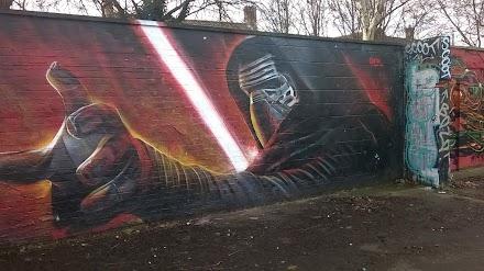 Kylo Ren Mural von Gnasher aus England | Das Bild des Tages