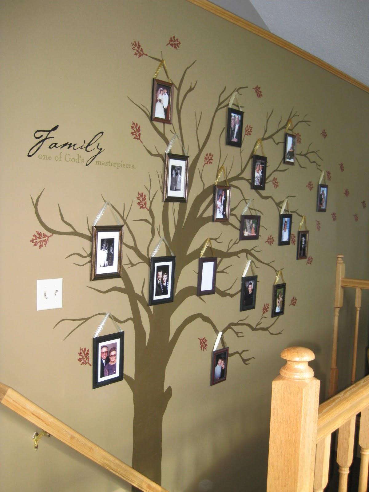 2012 Family Home Decorating Ideas: Lessiz Moore: DIY Family Tree Home Decor