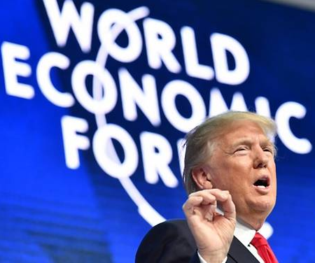 """""""America first does not mean America alone"""": Trump to world leaders at Davos"""