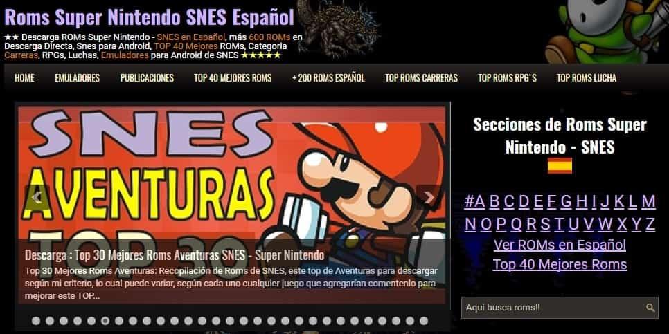 Aqui puedes aceder a nuestra nueva pagina de Roms Super Nintendo
