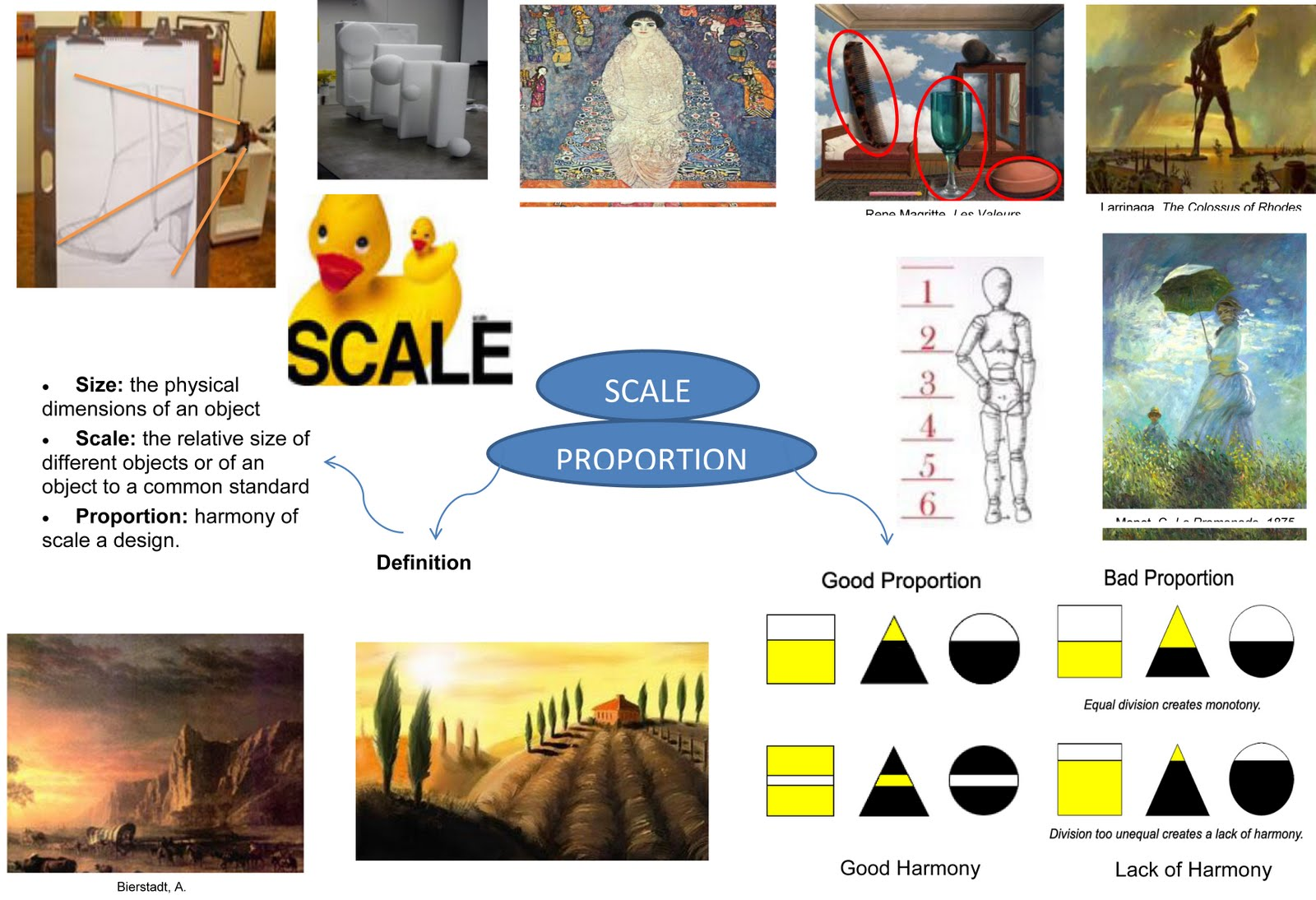 History of art and design element of art and design - Scale and proportion in art ...