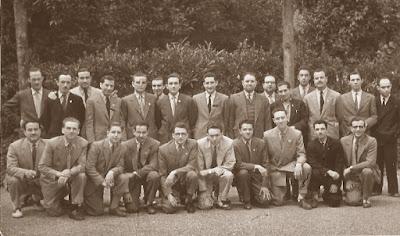 Jugadores del match Mataró-Terrassa mantenido en los años 50 del siglo XX