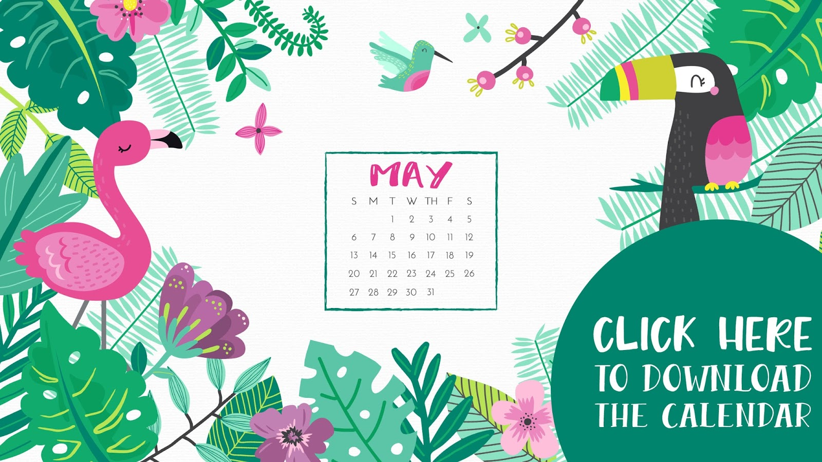 • May 2018 • Computer Desktop Calendar Background and matching iPhone Backgrounds