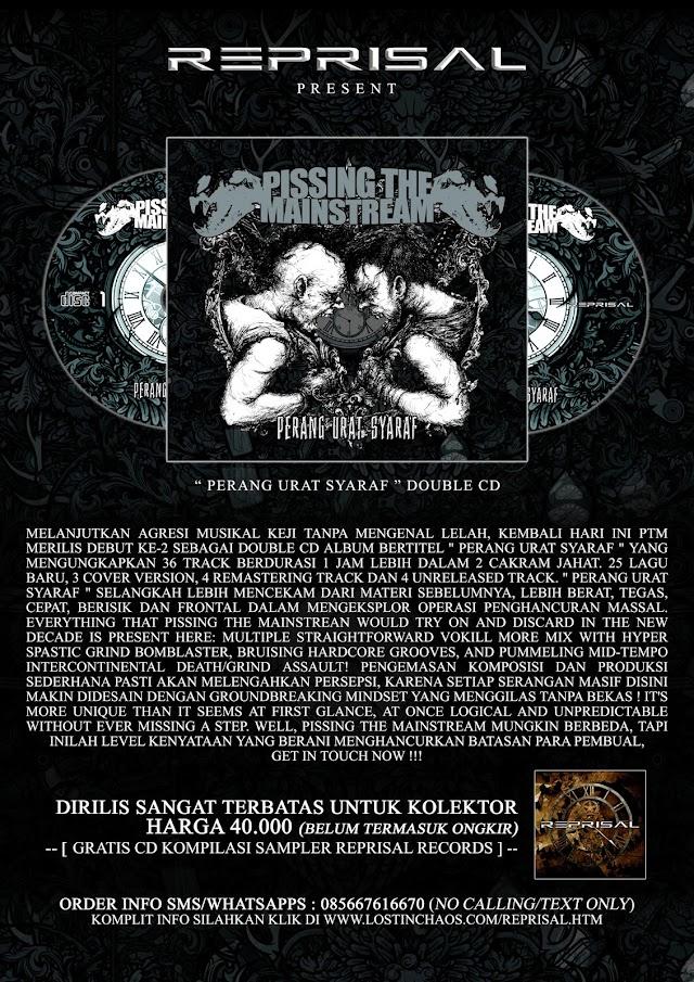 PISSING THE MAINSTREAM - Perang Urat Syaraf ' Double CD MASIH TERSEDIA TERBATAS !!!