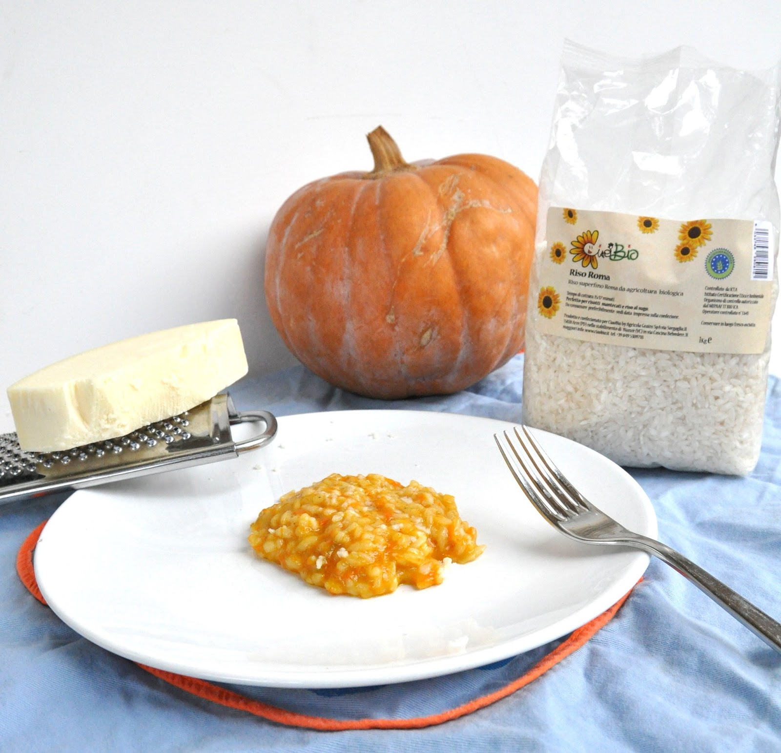 Thermomix Pumpkin Risotto with Spicy Provolone