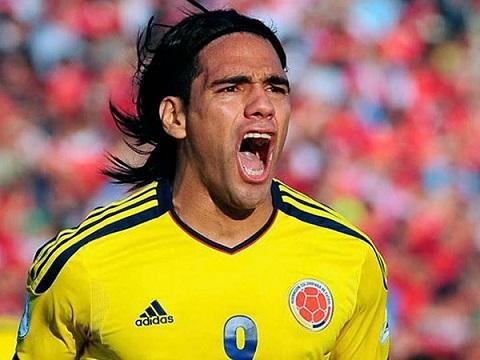 Falcao trong màu áo tuyển Colombia