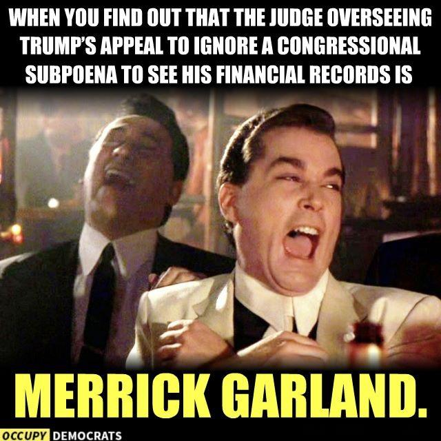 Merrick Garland Could Rule On Trump Subpoena Appeal: DownWithTyranny!: Midnight Meme Of The Day