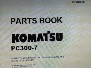 Komatsu Parts Book PC300-7  1