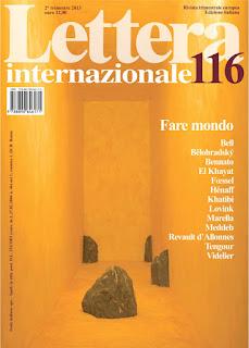 Copertina Lettera Internazionale 116 Silvana Calabrese