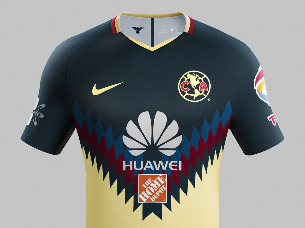 Juego America Cruz Azul 2017 >> Club América 17-18 Home Kit Revealed - Footy Headlines