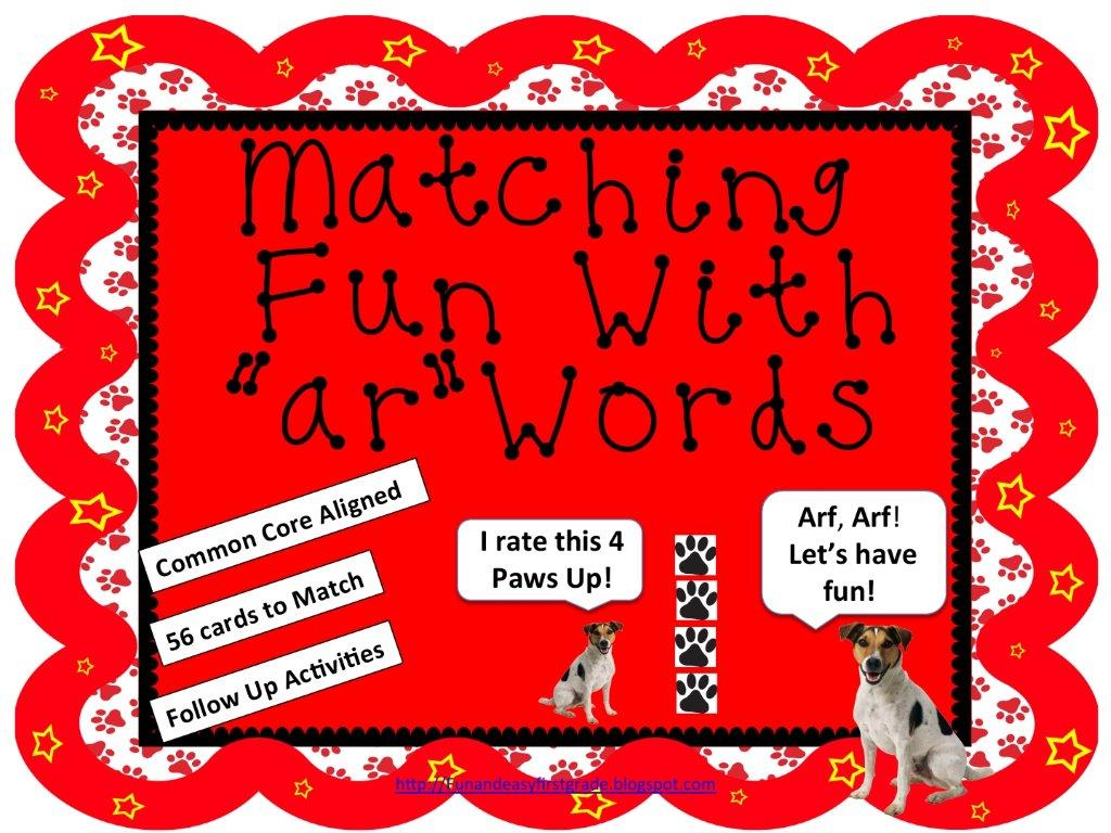 Fun And Easy First Grade Ideas R Controlled Vowels Super