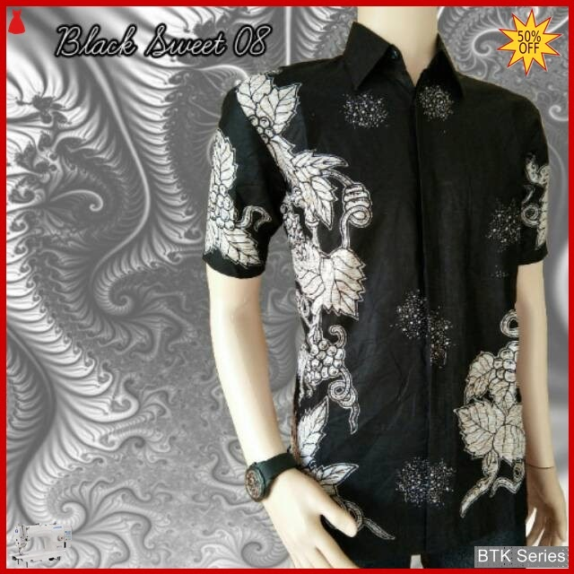 BTK159 Baju Hem Black Sweet 08 Modis Murah BMGShop