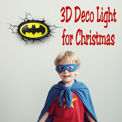 3DLIGHTFX 3D Deco Lights are the perfect gift this holiday season. They have a full range of comic book, super hero, Disney Princess, sports and car lights that look as though they are popping right out of the wall! They are battery operated and cool to the touch so you can place them any where in the room. Your kids will loves having these in their rooms and they're also the perfect editions to a den, family room, man's cave or office!