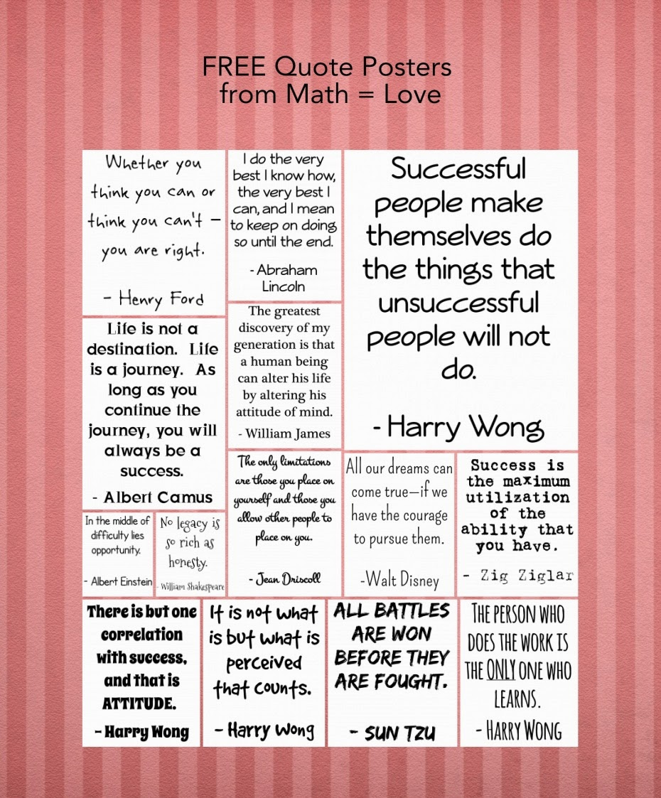 Math = Love: Free Classroom Posters