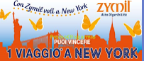 Logo Con Zymil vinci un viaggio a New York per due persone