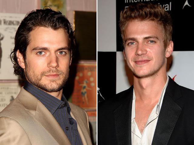 hot celebrities pics hollywood celebrities lookaline duplicates Hayden Christensen and Henry Cavill