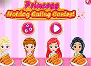 Princesas: en concurso de comer Hotdog