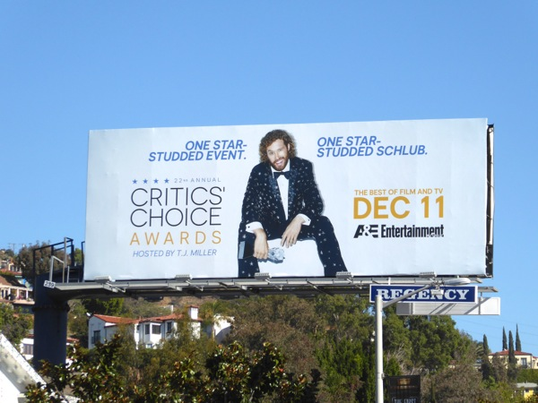 22nd Critics Choice Awards billboard