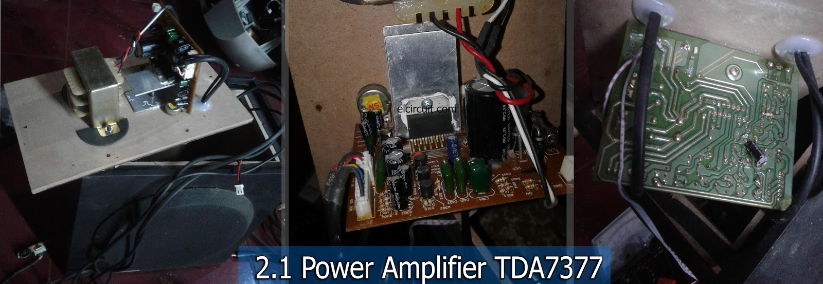 Circuit Power Amplifier Bass Audio Amplifier Tda Amplifier 21 Circuit
