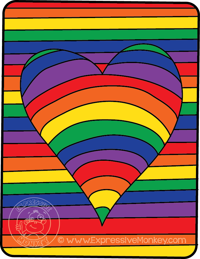 See how you can use this fun lesson to teach about color theory while making op art hearts!