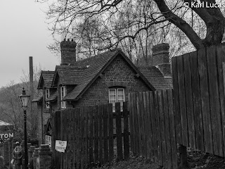 The old Doctors House Black+White Blists Hill