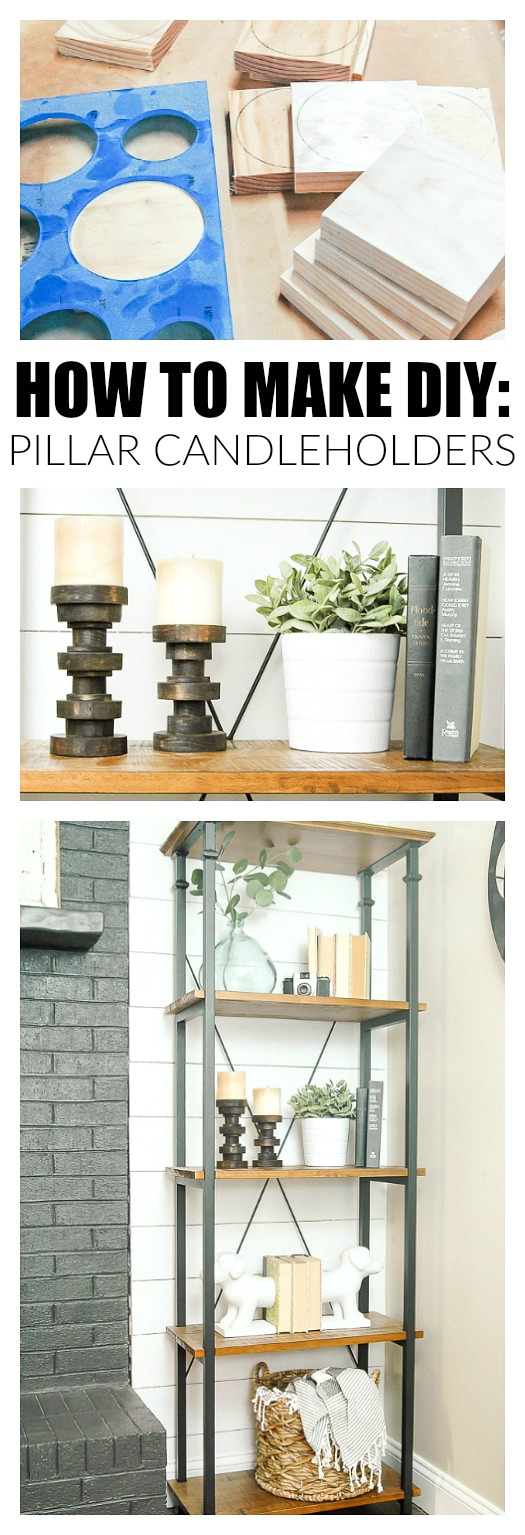 How to Make Inexpensive Pillar Candle Holders.